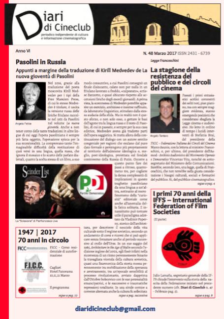 DIARI DI CINECLUB N° 48 – MARZO 2017