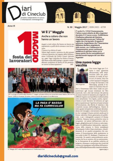 DIARI DI CINECLUB N° 50 – MAGGIO 2017