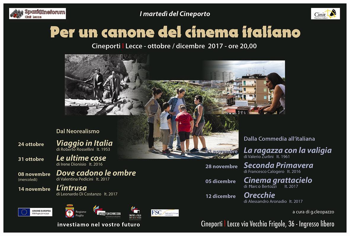 I martedì del Cineporto di Lecce – Per un canone del cinema italiano