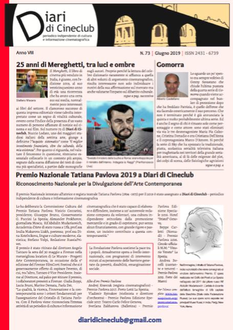 DIARI DI CINECLUB N° 73 – GIUGNO 2019