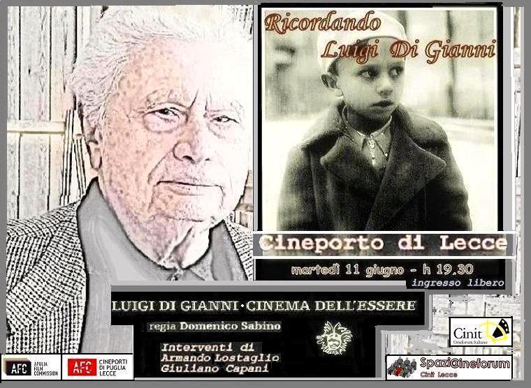 A Lecce, per iniziativa di SpazioCineforum, si ricorda Luigi Di Gianni