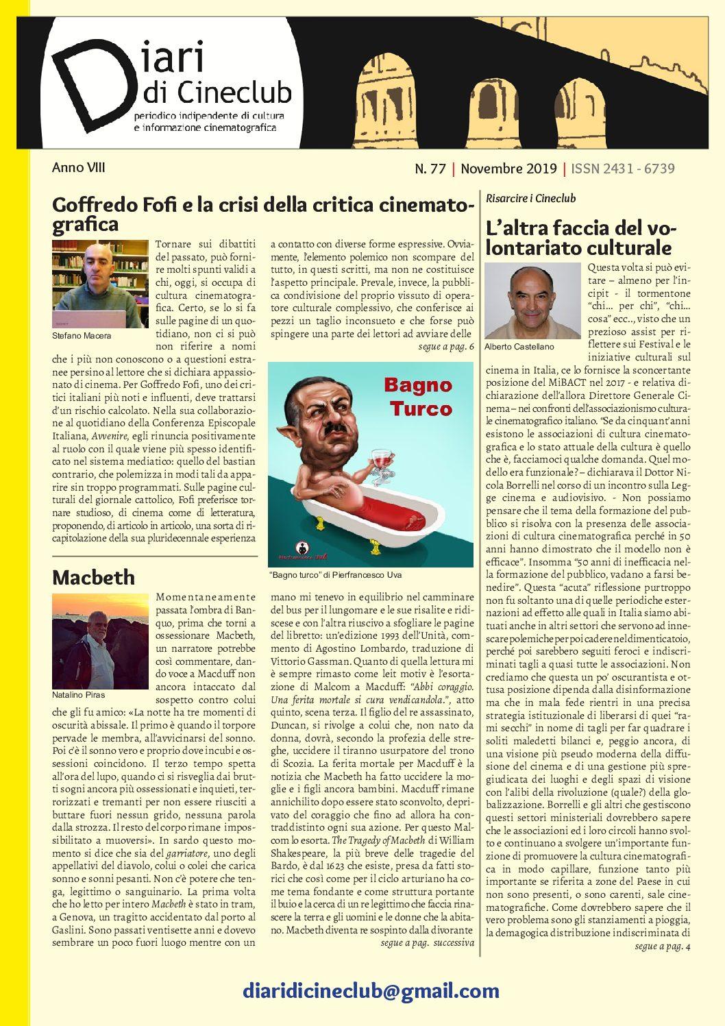 Online Diari di Cineclub n°77 – Novembre