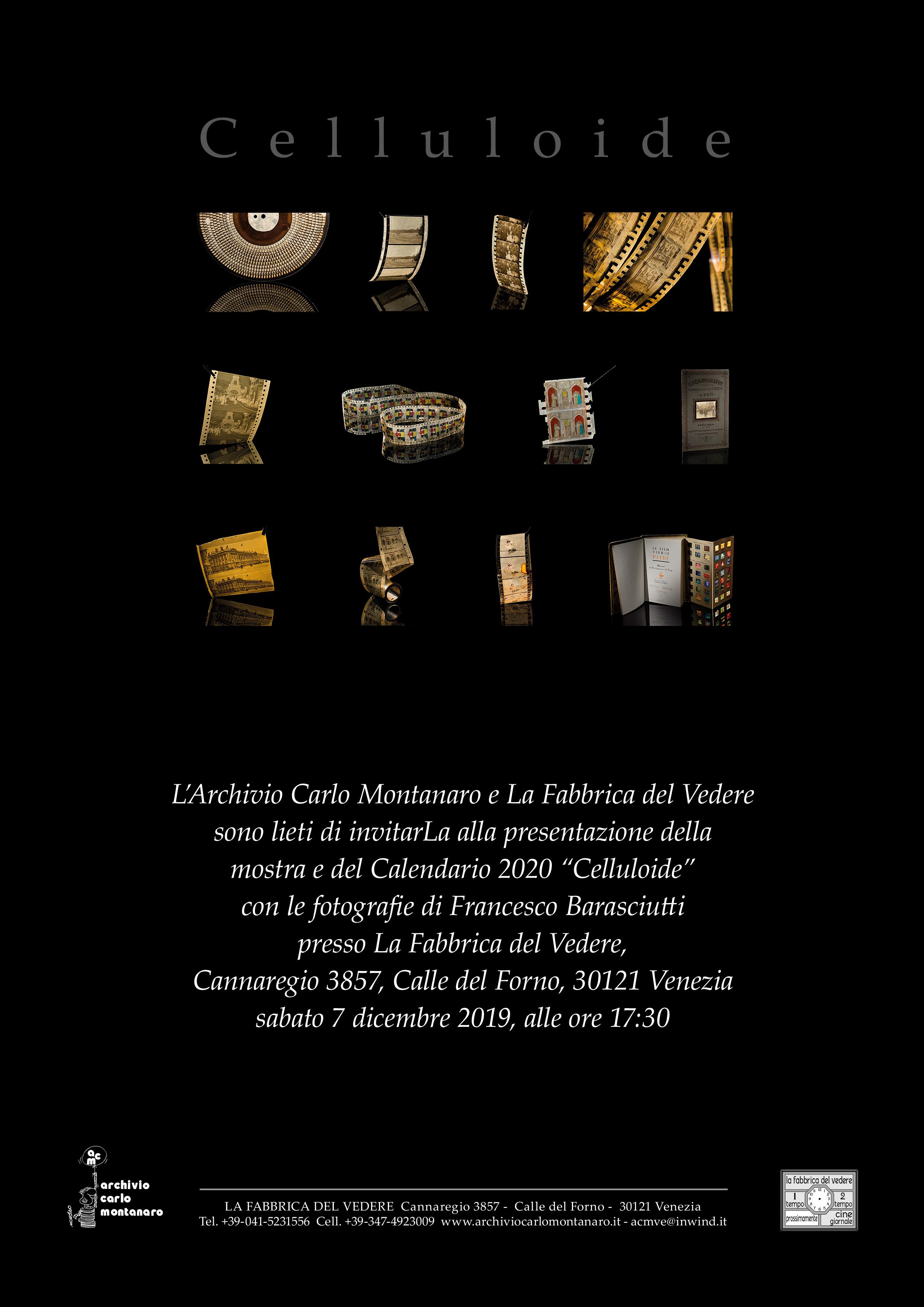 Arriva il 2020, torna alla Fabbrica del Vedere la mostra del calendario dedicato stavolta alla Celluloide