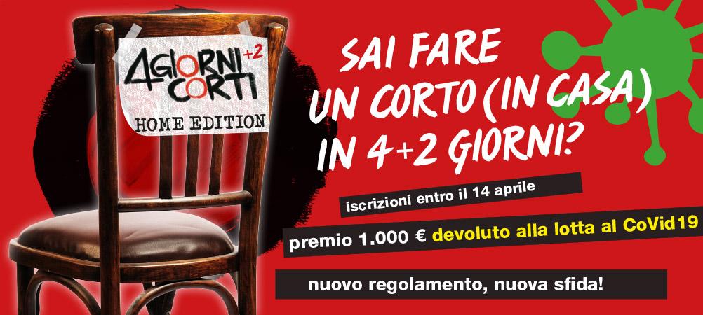 """Nonantola Film Festival, la gara ai tempi del Coronavirus: """"4 Giorni Corti+2 Home Edition"""", iscrizioni aperte"""