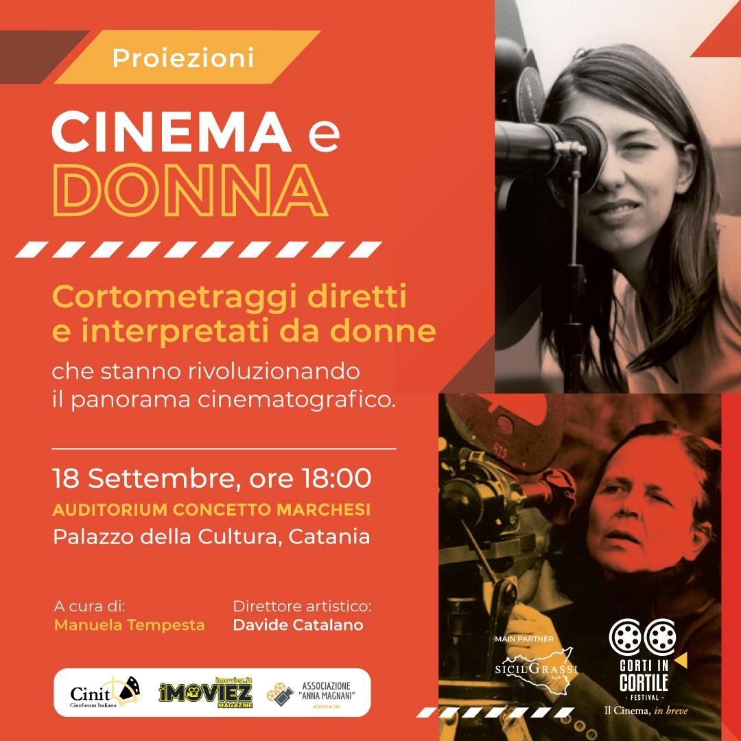 """""""Cinema donna"""" nuova sezione alla XIII edizione di """"Corti in cortile"""""""