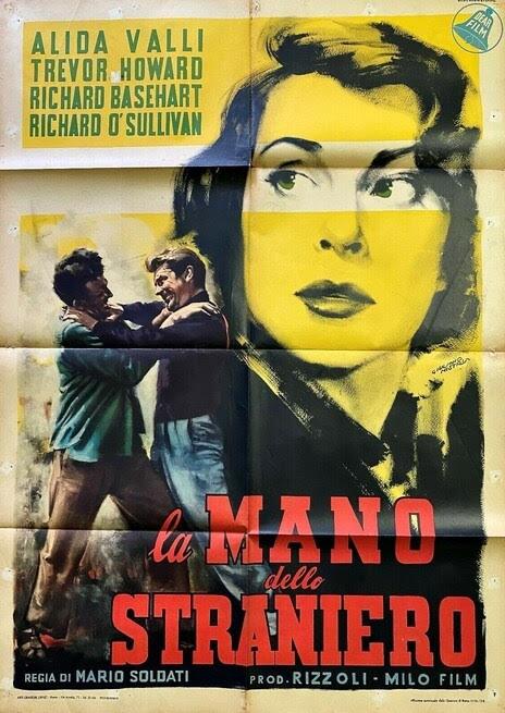 """Per la rassegna """"Alida Valli, diva per sempre"""": """"La mano dello straniero"""" di Mario Soldati alla Casa del Cinema di Venezia"""